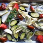 fennel, eggplant, onion tomatoes roasted with herbs